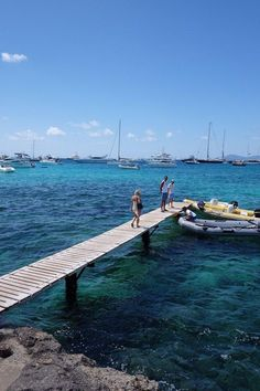 In Ibiza, where she visited Cala d'Hort for the day