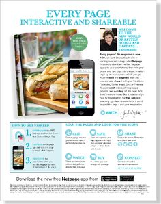 Netpage. Clipped from Better Homes and Gardens using Netpage.