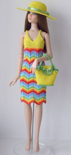 Dress, Hat & Purse (no pattern) #