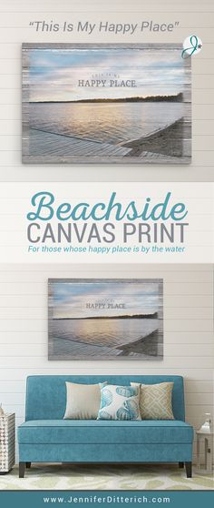 This Is My Happy Place | Lake & Beach House Decor | This print is for everyone whose happy place is by the water.