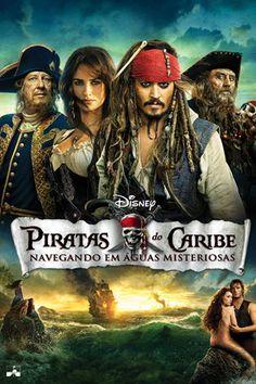 Piratas do Caribe: Navegando em Águas Misteriosas • 2011 • Direção: Rob Marshal • Elenco: Johnny Deep, Penélope Cruz, Geoffrey Rush • Gênero: Aventura, Fantasia, Comédia