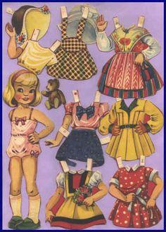 Ingrid Molzen. PDsamler. Online Interest Group on paper dolls. Justina Danish