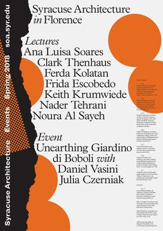 Get Lectured: Syracuse Architecture in Florence, Spring Poster Design Layout, Event Poster Design, Creative Poster Design, Poster Design Inspiration, Print Layout, Poster Designs, Event Posters, Research Poster, Poster S