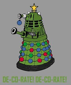 """Dalek doctor who christmas card"" Greeting Cards & Postcards by Scott Barker"