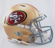 San Francisco authentic speed helmet by Riddell are designed with precision in mind. No other helmet like it and the NFL players are all wearing these style helmets. 49ers Helmet, Sports Helmet, Football Equipment, Sports Equipment, Nfl Football, Football Helmets, Baseball, 49ers Fans, Nfl San Francisco