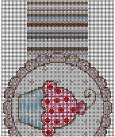 Material • Linha Anchor Mouliné (meadas de 8m) nas cores se quantidades indicadas na legenda. • Linha Cadena para as costuras. • Agulha Darning Corrente Milward nº 9, para as costuras. • Agulha Tap…