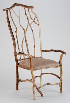 Rustic Captainu0027s Chair Natural Wood Furniture, Twig Furniture, Swinging  Chair, Rocking Chair,