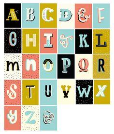 stephsayshello :: Alphabet Greetings Card
