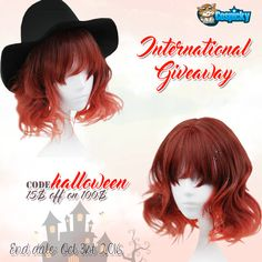"""""""Trick or Treat!"""" 👻Halloween is just around the corner, so it's the perfect time to celebrate this festival. Giveaway for a Lolita wig ,2 lucky friends!  1. Follow @cospicky 2. Like and Repin this pic  3. Finish above and enter here:  https://goo.gl/XvGyLX 4.Ends on Oct 31st .2016  Halloween Sale, Code: Halloween  to enjoy 15$ off 100$   Good luck everyone <33"""