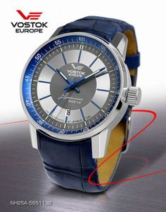 Vostok Europe Gents Limo 8215 Miyota Automatic Movement Watch with  Trigalights and Blue Leather Strap 218907487d9