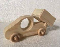 Carro de descarga, carro de madera, juguetes de madera, decoración de madera, regalos de bebé, juguetes hechos a mano, regalos hechos a mano, juguetes, juguetes de los cabritos de Bob