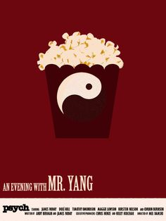 Psych - An Evening with Mr. Yang minimalist print. €6,00, via Etsy.