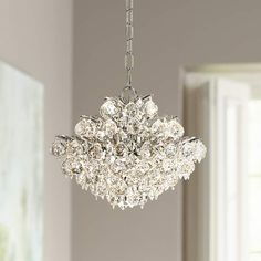 A glittering mini-pendant design with faceted clear crystal balls and diamond-shaped accents. Style # at Lamps Plus. Bathroom Pendant Lighting, Crystal Pendant Lighting, Rustic Lighting, Bedroom Lighting, Interior Lighting, Chandelier Lighting, Cheap Chandelier, Mini Chandelier, Farmhouse Light Fixtures