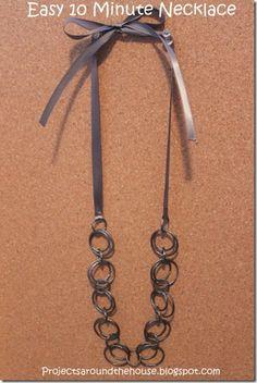 Easy 10 minute diy necklace