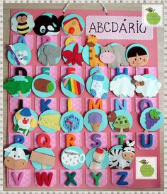 Class Door Decorations, Class Decoration, Alphabet Board, Alphabet And Numbers, Montessori Activities, Toddler Activities, Teaching Kids, Kids Learning, Preschool Crafts