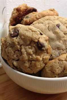 """Outrageous Chocolate Chip Cookies   """"I just made these as written & they are WONDERFUL!!! My favorite part about this cookie is it's texture."""" #cookies #cookierecipes #bakingrecipes #dessertrecipes #cookieideas"""