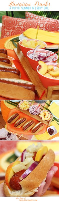 Hawaiian Grilled Franks – A Pop Of Summer In Every Bite | Kim Byers, TheCelebrationShoppe.com #greatergrilling #hebrewnational