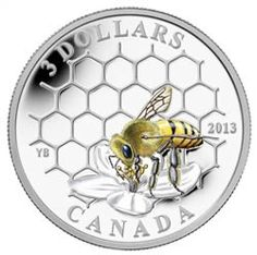 Canada's leader in buying and selling collectible coins and paper money. We offer Royal Canadian Mint collectible coins, silver, gold and provide selling values on coins and paper money. Mint Coins, Silver Coins, Honey Bee Hives, Honey Bees, Bee Honeycomb, Raising Bees, Canadian Coins, I Love Bees, Coin Design