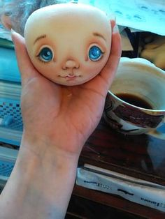 Face painting textile doll: 1000 and the first method - Fair Masters - handmade, handmade