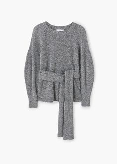 Flecked belt sweater | MANGO