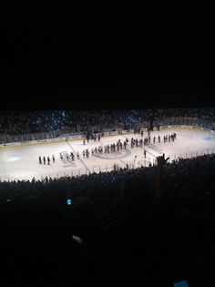 Madison Square Garden. Capitals vs. Rangers. Eastern Conference Semifinals, Game 7. May 12, 2012.  The handshake line! Great series!!