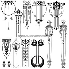 This is a collection of 11 vertical Art Nouveau designs. Description from craftsmanspace.com. I searched for this on bing.com/images