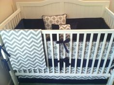 navy blue crib bedding - Google Search