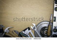Tools On A Wooden Background Stockfotonummer: 30802492 : Shutterstock
