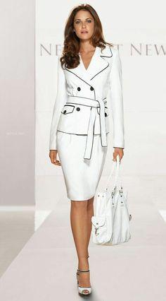 Power Dressing Tips – Glam Radar White Fashion, Work Fashion, Fashion Outfits, Womens Fashion, Office Fashion, Street Fashion, Fall Fashion, Curvy Fashion, Dress Fashion