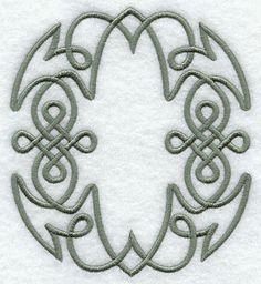 Celtic Knotwork Letter O - 5 Inch design (F9341) from www.Emblibrary.com