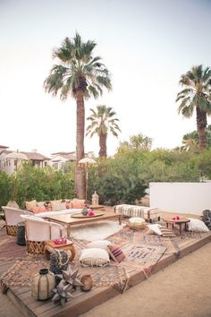 S is for Sitting Pretty Just add friends to the above tableau and you have the makings of a great outdoor gathering. Get more inspiration from this Palm Springs affair here… Photographed by Josh Goleman and Gary Ashley of The Wedding Artists...