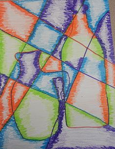 BluemoonPalette fractured vases using colored pencil sticks  good for Lammersville