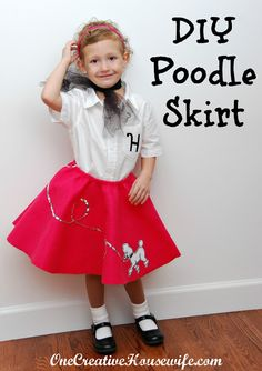DIY Poodle Skirt and Monogrammed Shirt Tutorial--Not a seamstress?  This project is super simple.  #poodle#skirt#tutorial#costume