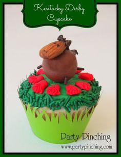 kentucky derby cupcake, horse cupcake