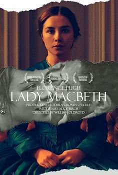 """#LadyMacbeth  In this adaptation of Nikolai Leskov's novella """"Lady Macbeth of the Mtsensk, a 19th century young bride is sold into marriage to a middle-aged man.   Poster by Handy Kara"""