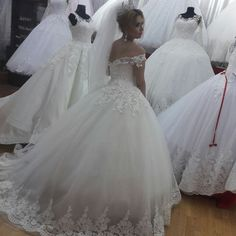Chic Ball Gown Wedding Dress 2017 Sexy Off