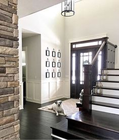 10 Astonishing Cool Tips: Black Wainscoting Woodwork white wainscoting stairs. Picture Frame Wainscoting, Wainscoting Nursery, Beadboard Wainscoting, Dining Room Wainscoting, Wainscoting Panels, Wainscoting Ideas, Worldly Gray, Interior Windows, Neutral Paint