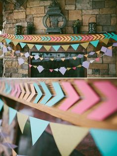 colorful banner decor