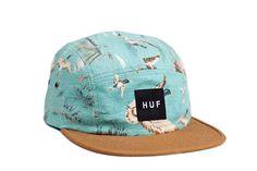 'Huf' 5 Panel Duck Duck Volley Hat (Aqua) | Goplay Magazine