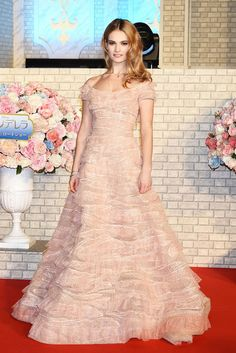 Another Cinderella moment: Lily James in Elie Saab couture