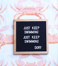 Just a little reminder from Dory herself. Positivity is always key. #disney #disneyland #movies #letterboard