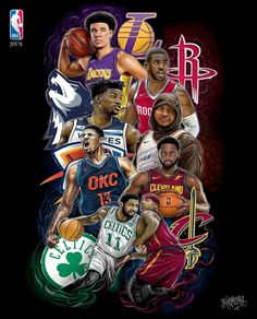 Illustration: @bigmora @piradosbrand NBA 2017/18 season is HERE! Who you got? . . . #bigmora #pirados #piradosbrand #art #drawing #illustration #digitalart #basketball #basketballart #nba2k18 #lakers #celtics #cavaliers #timberwolves #okcthunder #rockets #nbaartwork #hoopsnation #nikebasketball