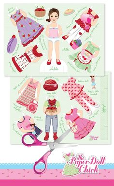 Gorgeous cut out paper dolls from www.thepaperdollchick.com.au