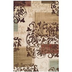 Superior Modern Storyville Scroll Collection Area Rug 10mm Pile Height with Jute Backing Beautiful Geometric Flourish Design AntiStatic WaterRepellent Rugs  5 x 8 Rug * More info could be found at the image url. #BudgetHomeDecor