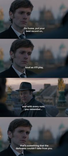 Two of my favorite detectives! Their faces are perfect reactions to the words. Thursday = anger and frustration, and concern, too. Inspector Lewis, Inspector Morse, Shaun Evans, Endeavour Morse, What Do You Mean, Fictional World, Tv Show Quotes, Me Tv, Favorite Tv Shows