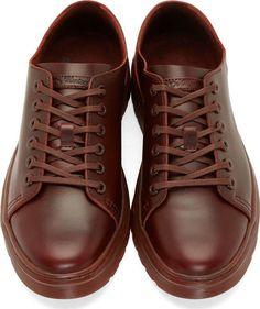 Dr. Martens Burgundy Leather Six-Eye Dante Sneakers