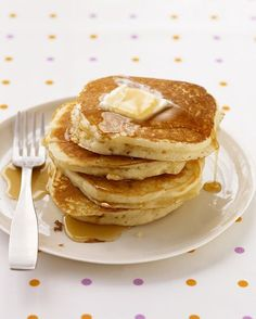 Basic Pancakes - Martha Stewart Recipes Made it with Earth Balance and Coconut Milk