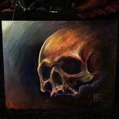 Acrylic on canvas made in off The map tattoo by me Skull Painting, Painting Canvas, Off The Map Tattoo, Tony B, B Tattoo, Acrylic Art, Raven, Skulls, Sketches