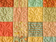 PatchworkPottery:  Flower Quilting