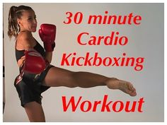 30 minute Cardio Kickboxing total body workout - YouTube